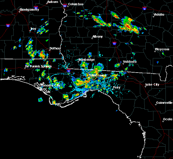 Radar Image for Severe Thunderstorms near Tallahassee, FL at 8/6/2018 4:30 PM EDT