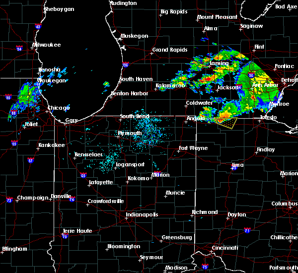 Radar Image for Severe Thunderstorms near Wauseon, OH at 8/6/2018 4:36 PM EDT