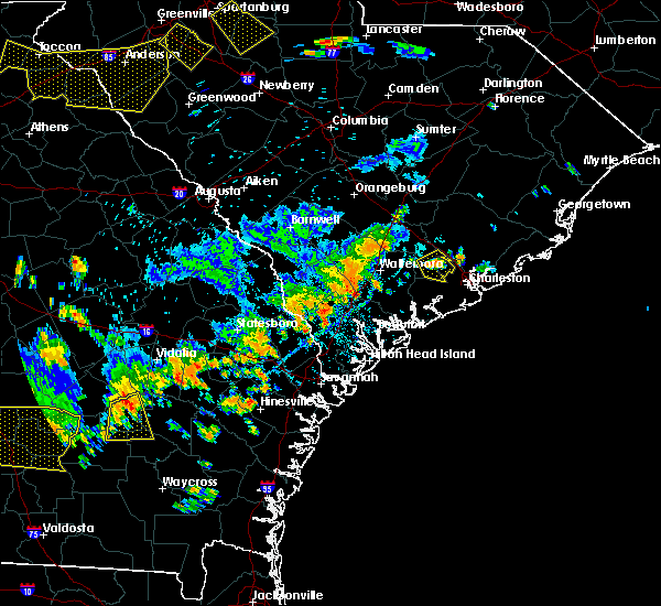 Radar Image for Severe Thunderstorms near Summerville, SC at 8/6/2018 5:36 PM EDT