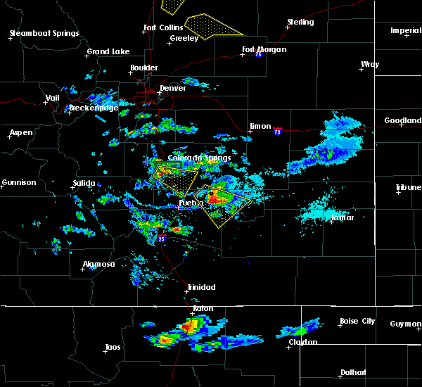 Radar Image for Severe Thunderstorms near Security-Widefield, CO at 8/6/2018 4:20 PM MDT