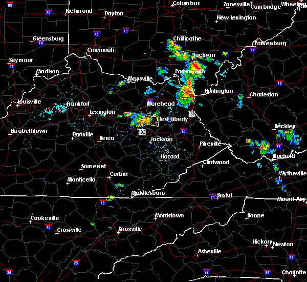 Radar Image for Severe Thunderstorms near Ezel, KY at 8/6/2018 6:20 PM EDT