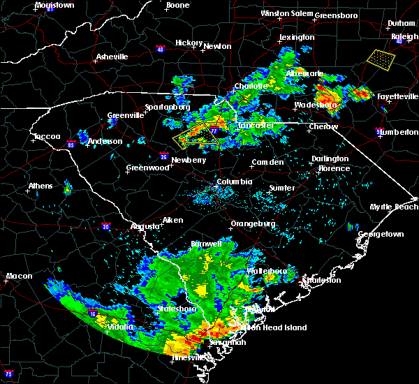 Radar Image for Severe Thunderstorms near Lowrys, SC at 8/6/2018 6:57 PM EDT