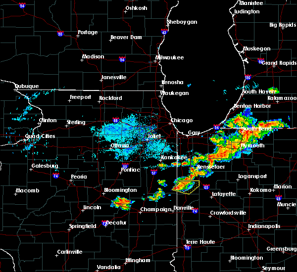 Radar Image for Severe Thunderstorms near Earl Park, IN at 8/6/2018 7:31 PM EDT