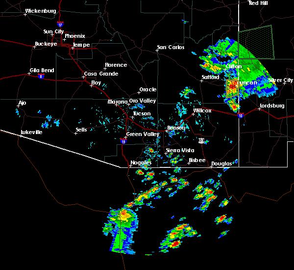 Radar Image for Severe Thunderstorms near Duncan, AZ at 8/6/2018 4:47 PM MST