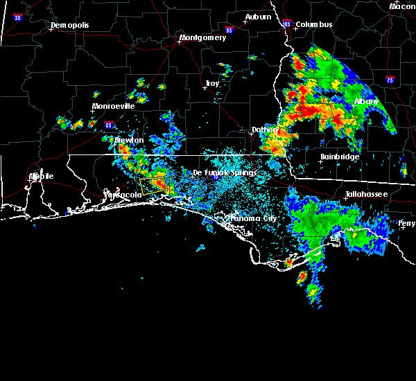 Radar Image for Severe Thunderstorms near Crestview, FL at 8/6/2018 7:06 PM CDT