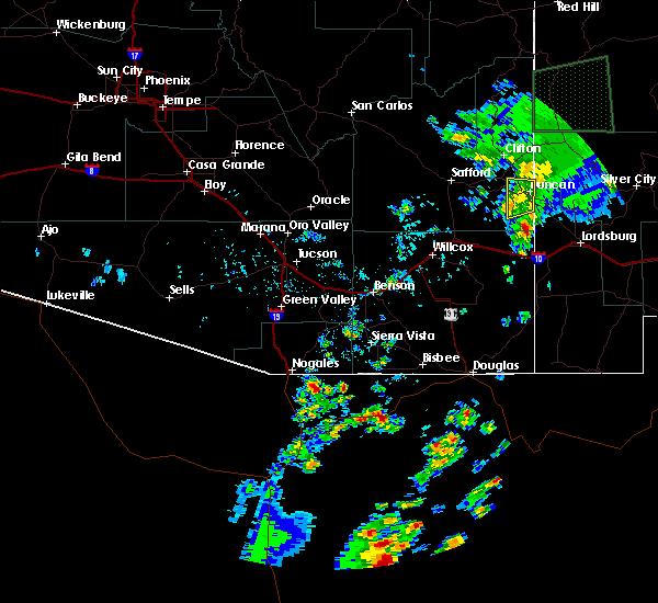 Radar Image for Severe Thunderstorms near Duncan, AZ at 8/6/2018 5:18 PM MST