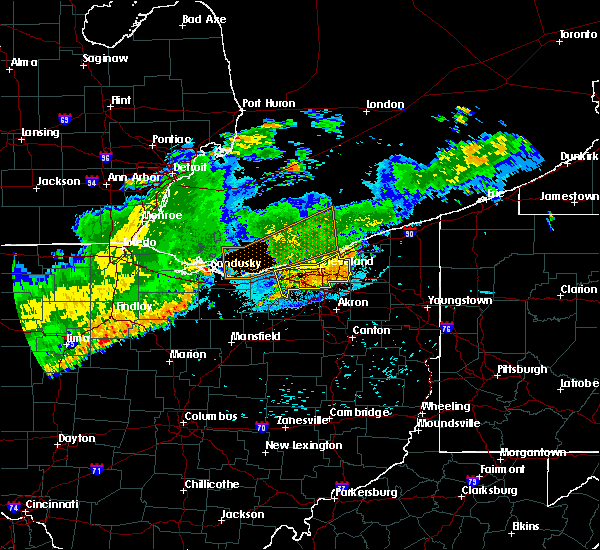 Radar Image for Severe Thunderstorms near Mayfield, OH at 8/6/2018 11:58 PM EDT