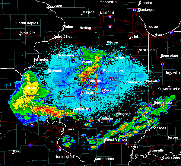Radar Image for Severe Thunderstorms near Lincoln, IL at 8/7/2018 2:03 AM CDT