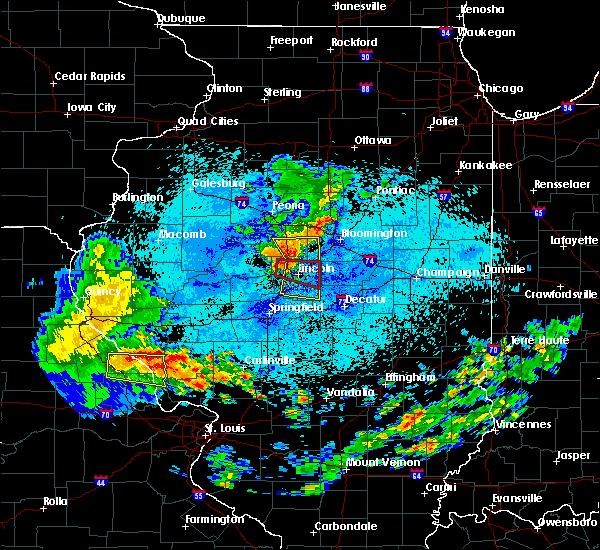 Radar Image for Severe Thunderstorms near Lincoln, IL at 8/7/2018 2:09 AM CDT