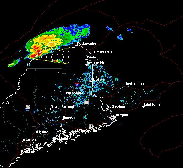 Radar Image for Severe Thunderstorms near Eagle Lake, ME at 8/7/2018 6:10 AM EDT
