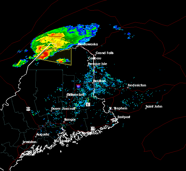 Radar Image for Severe Thunderstorms near Eagle Lake, ME at 8/7/2018 6:25 AM EDT