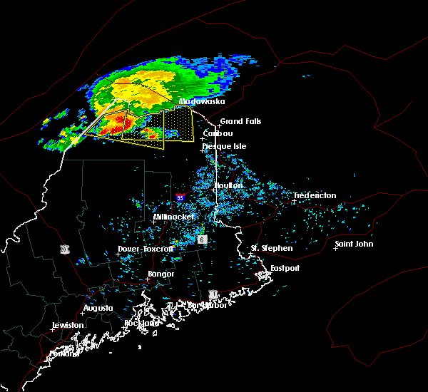 Radar Image for Severe Thunderstorms near Eagle Lake, ME at 8/7/2018 6:46 AM EDT