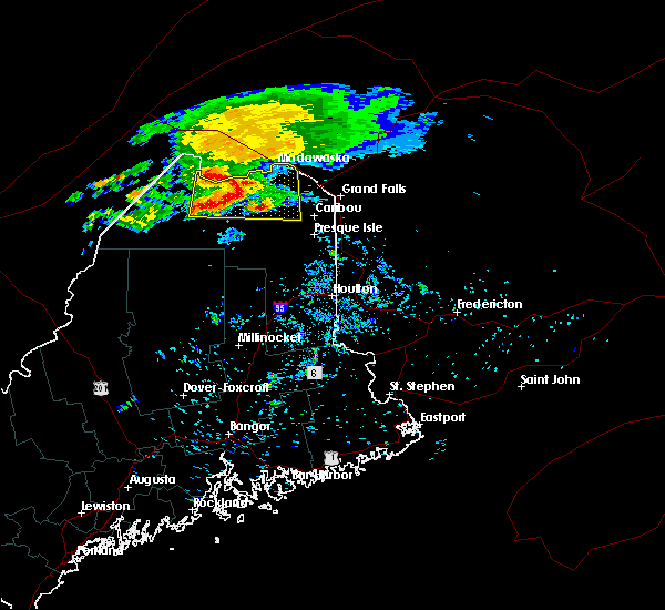 Radar Image for Severe Thunderstorms near Eagle Lake, ME at 8/7/2018 7:10 AM EDT