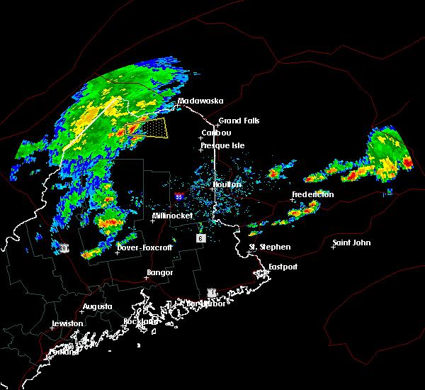 Radar Image for Severe Thunderstorms near Eagle Lake, ME at 8/7/2018 12:38 PM EDT