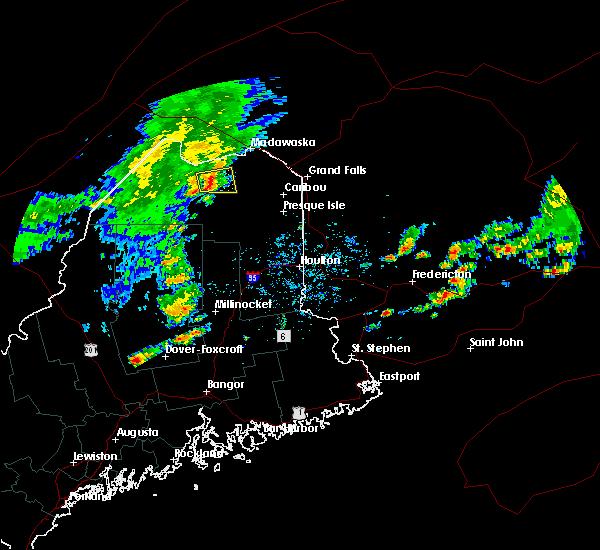 Radar Image for Severe Thunderstorms near Eagle Lake, ME at 8/7/2018 12:59 PM EDT