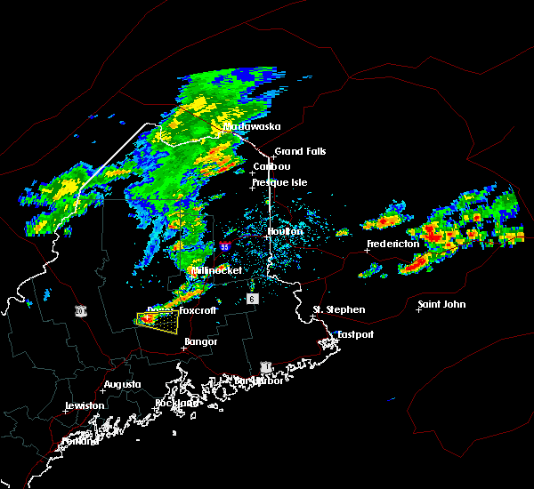 Radar Image for Severe Thunderstorms near Milo, ME at 8/7/2018 1:29 PM EDT