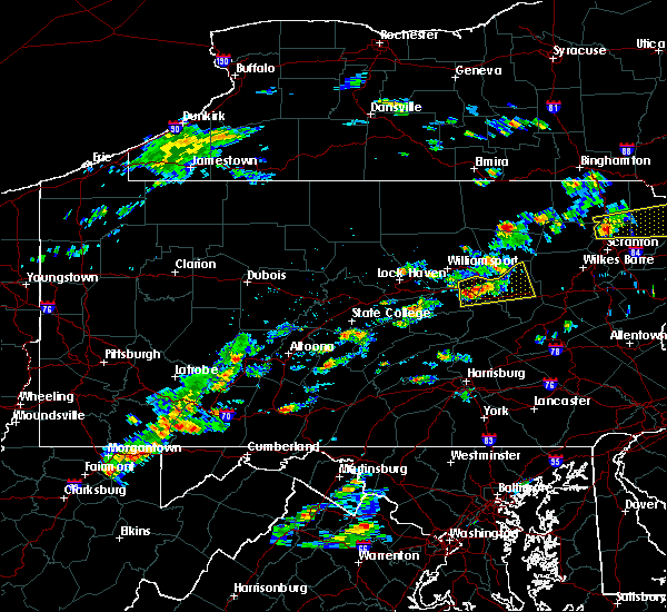 Radar Image for Severe Thunderstorms near Iola, PA at 8/7/2018 1:57 PM EDT