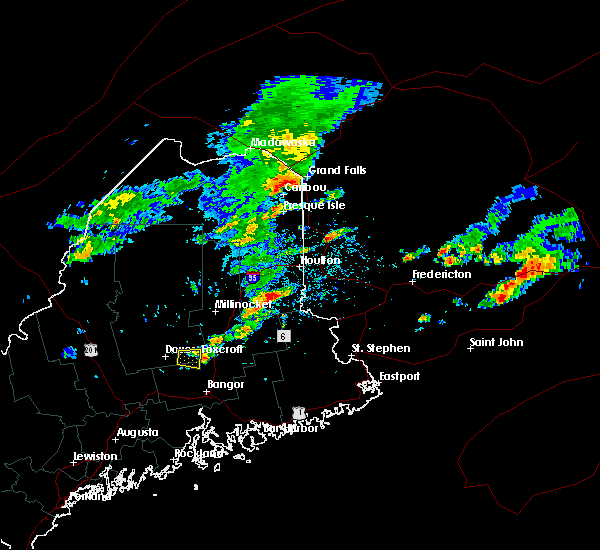 Radar Image for Severe Thunderstorms near Milo, ME at 8/7/2018 1:59 PM EDT