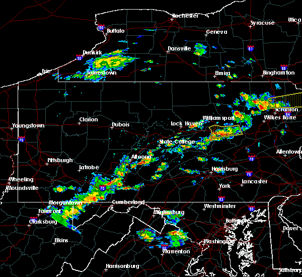 Radar Image for Severe Thunderstorms near Danville, PA at 8/7/2018 2:46 PM EDT