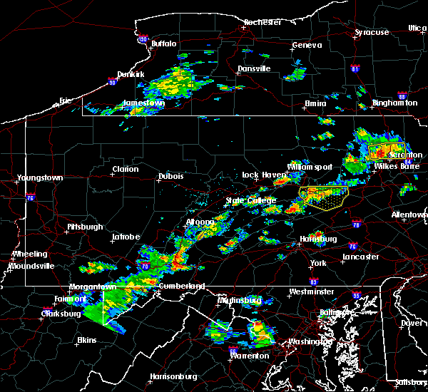 Radar Image for Severe Thunderstorms near Gordon, PA at 8/7/2018 3:10 PM EDT