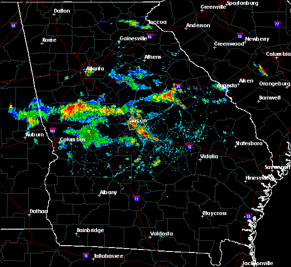 Radar Image for Severe Thunderstorms near Macon, GA at 8/7/2018 4:43 PM EDT