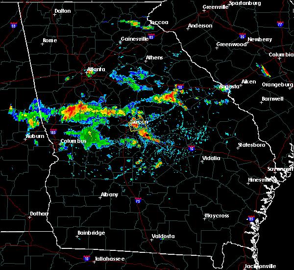 Radar Image for Severe Thunderstorms near Macon, GA at 8/7/2018 4:43 PM EDT