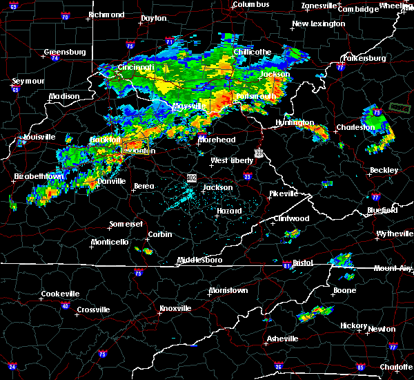 Radar Image for Severe Thunderstorms near Paris, KY at 8/7/2018 5:55 PM EDT