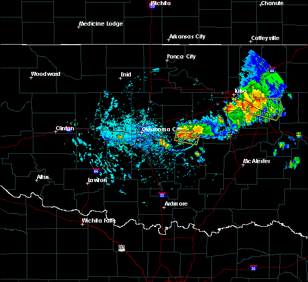 Radar Image for Severe Thunderstorms near Prague, OK at 8/7/2018 5:36 PM CDT