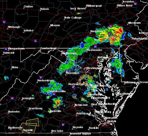Radar Image for Severe Thunderstorms near Fort Washington, MD at 8/7/2018 6:54 PM EDT
