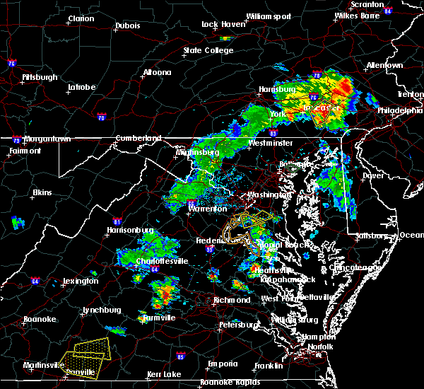 Radar Image for Severe Thunderstorms near Croom, MD at 8/7/2018 6:58 PM EDT