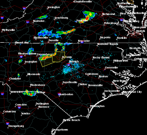 Radar Image for Severe Thunderstorms near Durham, NC at 8/7/2018 7:40 PM EDT