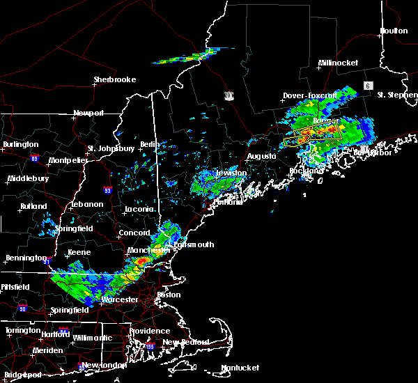 Radar Image for Severe Thunderstorms near Orono, ME at 8/7/2018 7:52 PM EDT