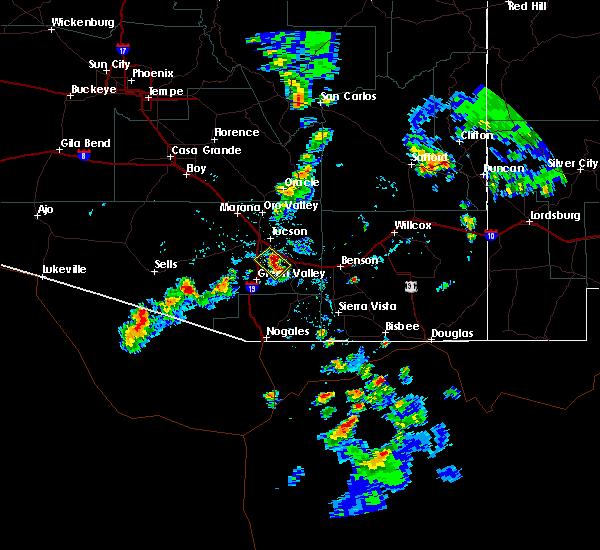 Radar Image for Severe Thunderstorms near Tucson, AZ at 8/7/2018 5:38 PM MST