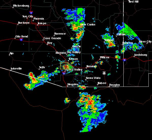 Radar Image for Severe Thunderstorms near Tucson, AZ at 8/7/2018 6:09 PM MST