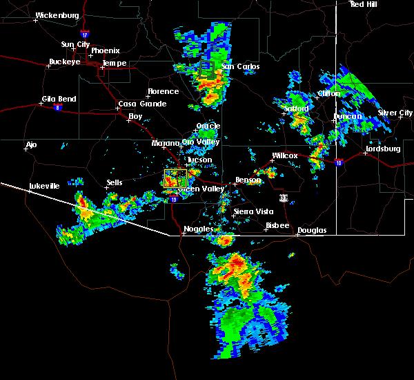 Radar Image for Severe Thunderstorms near Tucson, AZ at 8/7/2018 6:30 PM MST