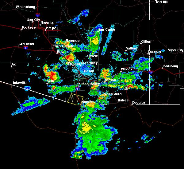 Radar Image for Severe Thunderstorms near Tubac, AZ at 8/7/2018 8:28 PM MST