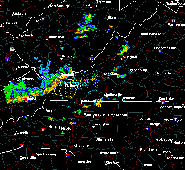 Radar Image for Severe Thunderstorms near Hiwassee, VA at 8/8/2018 1:58 PM EDT