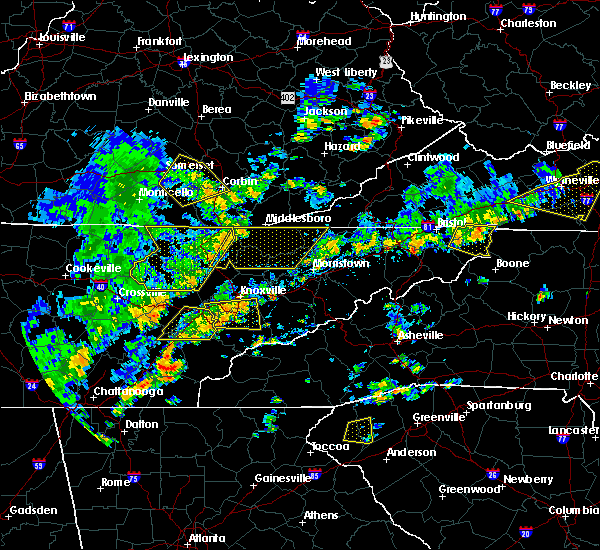 Radar Image for Severe Thunderstorms near Mountain City, TN at 8/8/2018 2:57 PM EDT