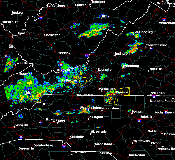 Radar Image for Severe Thunderstorms near Hiwassee, VA at 8/8/2018 3:09 PM EDT