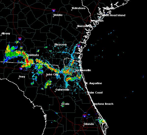 Radar Image for Severe Thunderstorms near Jacksonville, FL at 8/8/2018 4:55 PM EDT