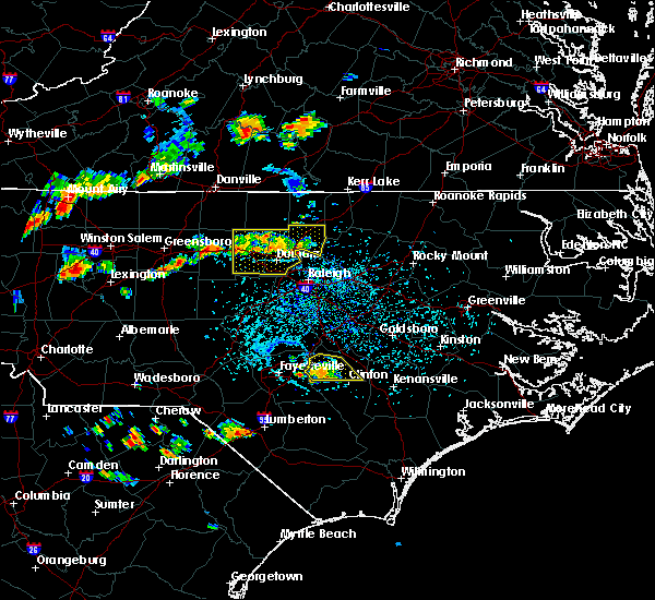 Radar Image for Severe Thunderstorms near Falcon, NC at 8/8/2018 4:55 PM EDT