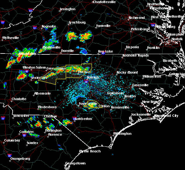 Radar Image for Severe Thunderstorms near Staley, NC at 8/8/2018 4:58 PM EDT