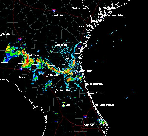 Radar Image for Severe Thunderstorms near Jacksonville, FL at 8/8/2018 5:04 PM EDT