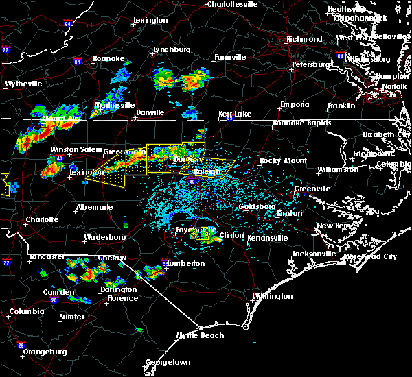 Radar Image for Severe Thunderstorms near Durham, NC at 8/8/2018 5:08 PM EDT