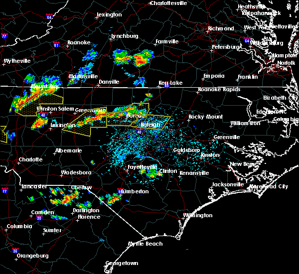 Radar Image for Severe Thunderstorms near Durham, NC at 8/8/2018 5:20 PM EDT