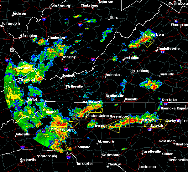 Radar Image for Severe Thunderstorms near Taylorsville, NC at 8/8/2018 5:33 PM EDT