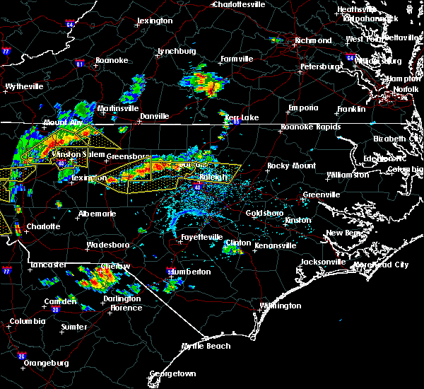 Radar Image for Severe Thunderstorms near Durham, NC at 8/8/2018 5:45 PM EDT