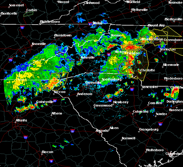 Radar Image for Severe Thunderstorms near Spencer Mountain, NC at 8/8/2018 5:52 PM EDT