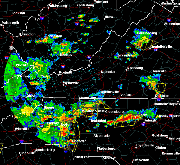 Radar Image for Severe Thunderstorms near Statesville, NC at 8/8/2018 6:05 PM EDT