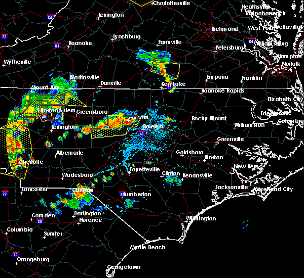 Radar Image for Severe Thunderstorms near Durham, NC at 8/8/2018 6:12 PM EDT